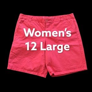 Gap 12 L Shorts Chino Khakis Pink Cotton EUC